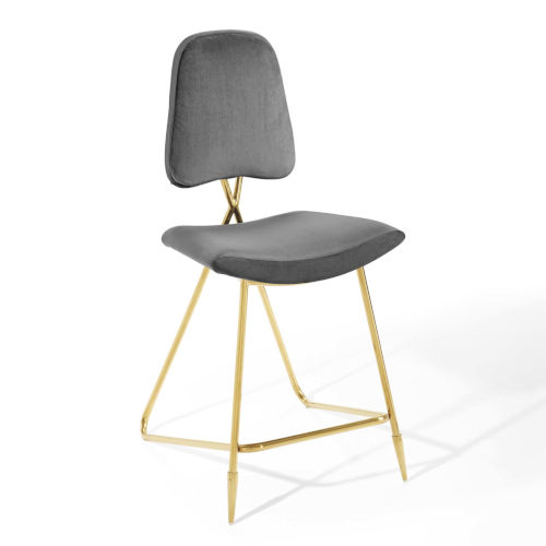 Cooper Gray Performance Velvet Counter Stool