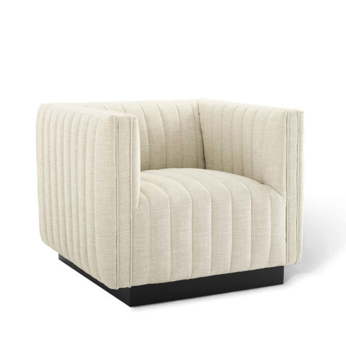 Cooper Tufted Upholstered Fabric Armchair