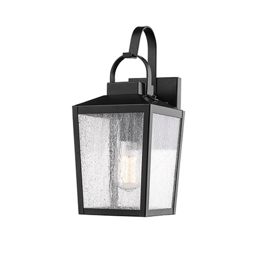 Elle Black Seven-Inch One-Light Outdoor Wall Sconce