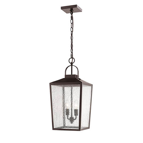 Elle Bronze Two-Light Outdoor Pendant