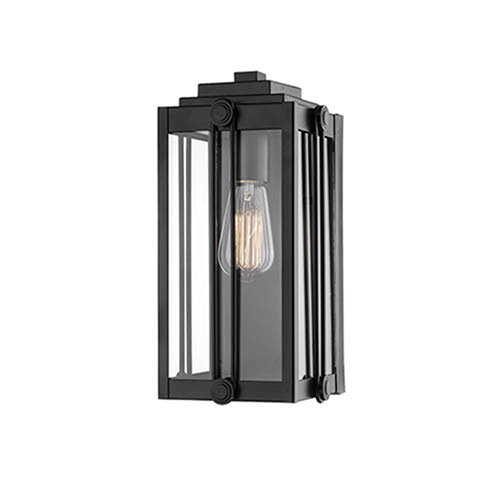 Cora Black Eight-Inch One-Light Outdoor Wall Sconce