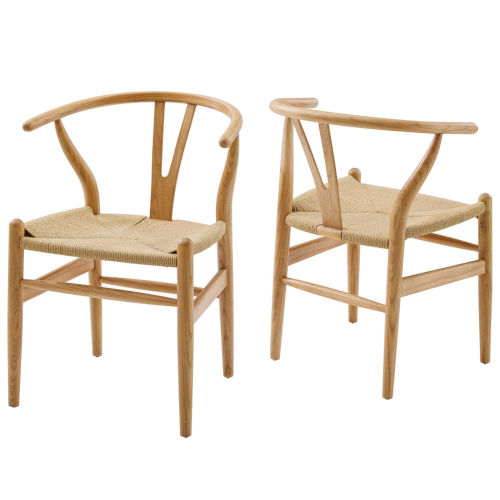 Nicollet Natural Armchair, Set of Two