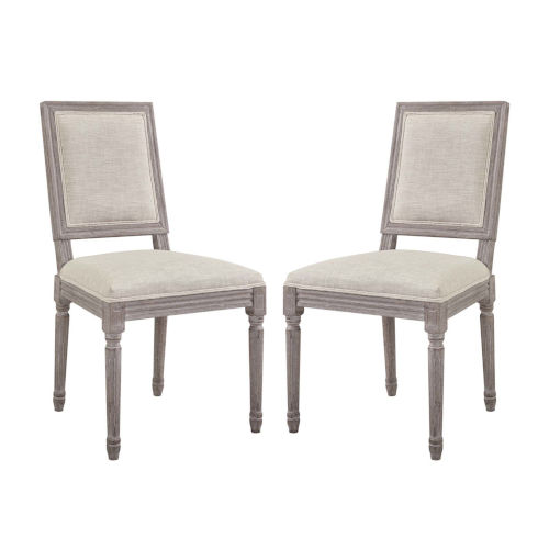 Grace Beige 40-Inch Dining Side Chair, Set of Two