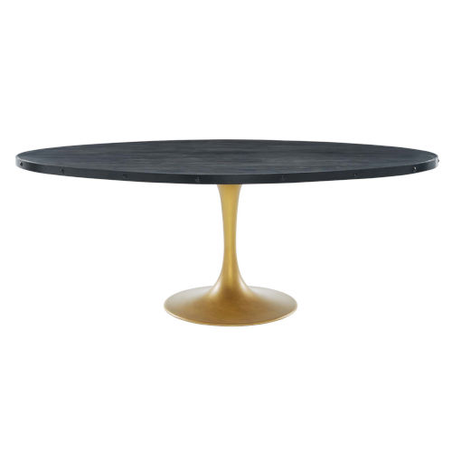 Cooper Black Gold 48-Inch Oval Dining Table
