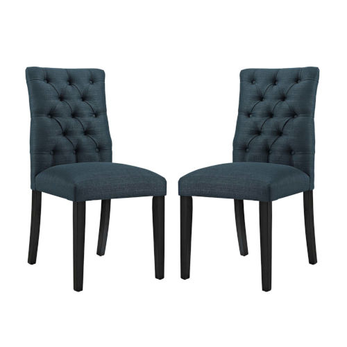 Whittier Azure Fabric Dining Chair, Set of Two
