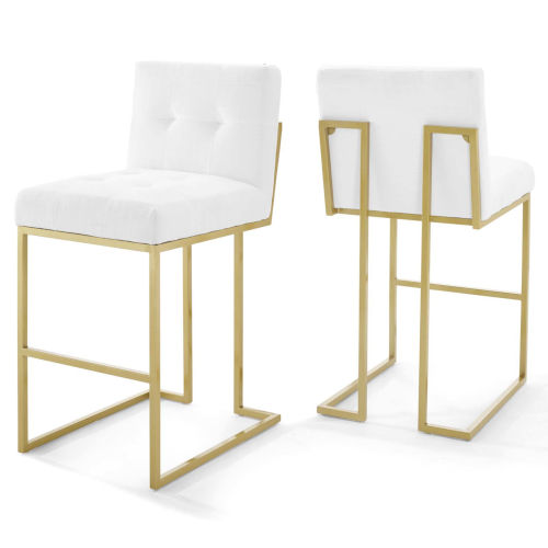 Monroe Gold White 40-Inch Bar Stool, Set of Two