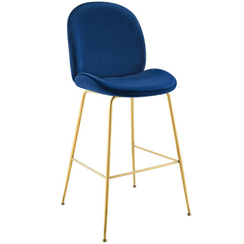 Cooper Navy 46-Inch Bar Stool