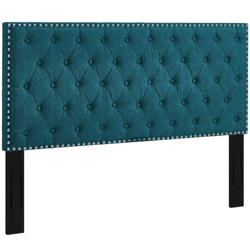 Linden Tufted Queen Upholstered Linen Fabric Headboard