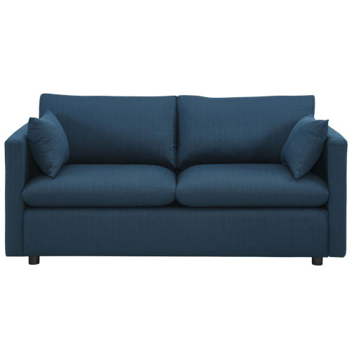 Selby Azure Upholstered Fabric Sofa