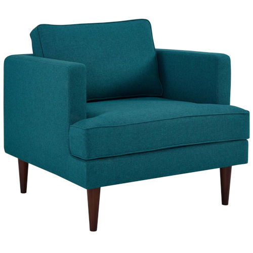Nicollet Teal 35-Inch Upholstered Fabric Armchair