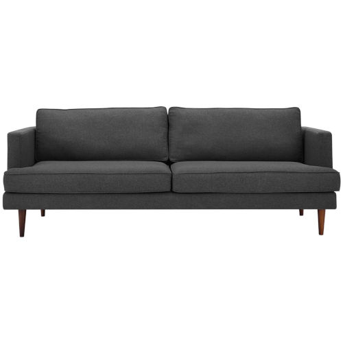 Nicollet Gray 87-Inch Upholstered Fabric Sofa