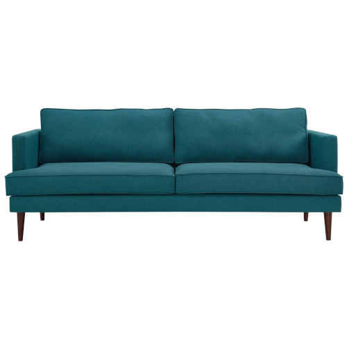 Nicollet Teal 87-Inch Upholstered Fabric Sofa