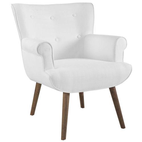 Monroe White Upholstered Armchair