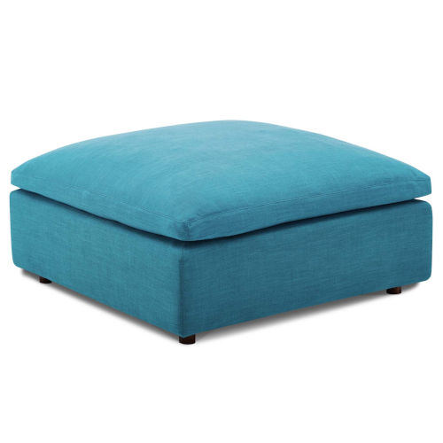 Selby Teal Down Filled Overstuffed Ottoman