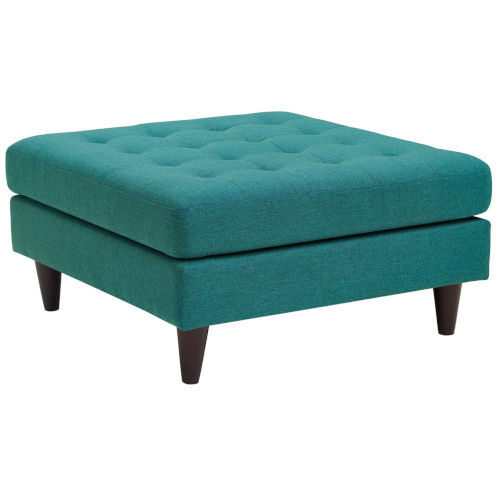 Whittier Teal Upholstered Fabric Large Ottoman