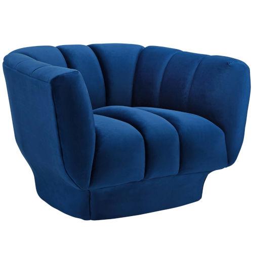 Cooper Vertical Channel Tufted Performance Velvet Armchair