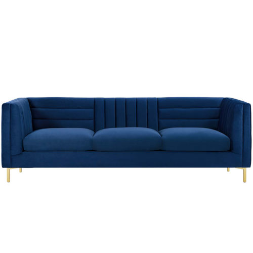 Cooper Channel Tufted Performance Velvet Sofa