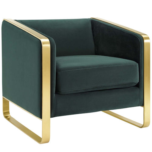 Cooper Green Accent Club Lounge Performance Velvet Armchair