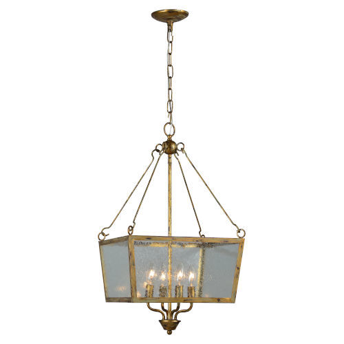 Kate Antique Gold Four-Light Chandelier