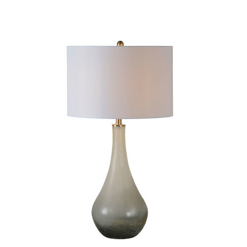 Anita Dusky Gray and White One-Light Table Lamp