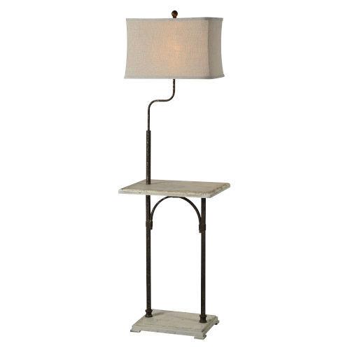 Hazel Cottage White One-Light Floor Lamp