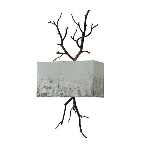 Hana Rusty Black and Cream One-Light Wall Sconce