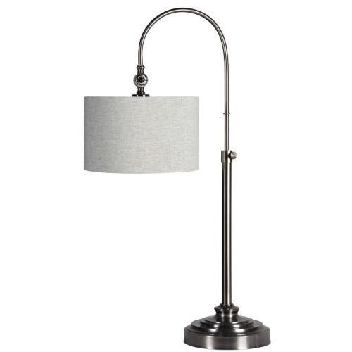 Hazel Brushed Nickel One-Light Desk Lamp