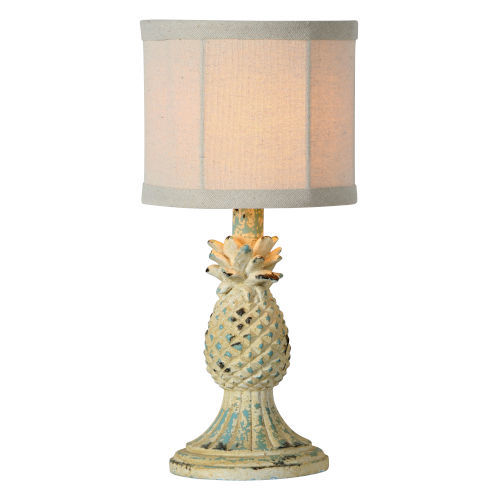 Hazel Distressed White and Blue One-Light Table Lamp