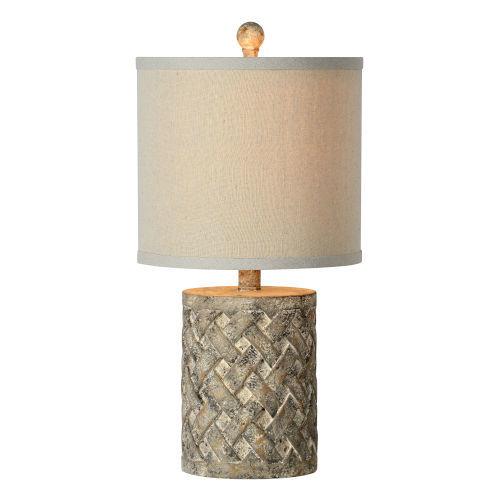 Hazel Worn Brown and Cream One-Light Table Lamp
