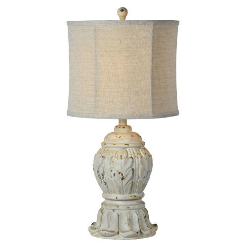 Hazel Antique White 27-Inch One-Light Table Lamp