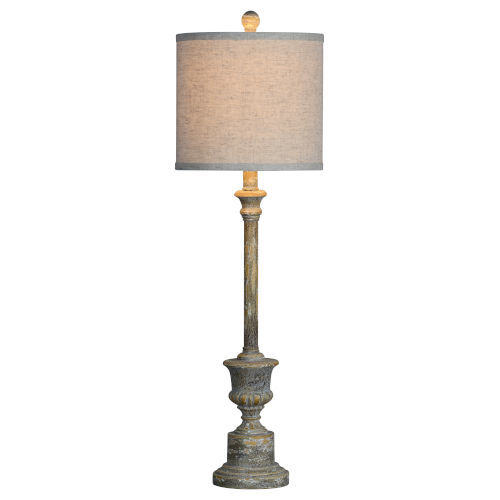 Hazel Distressed Rich Gray One-Light Buffet Lamp