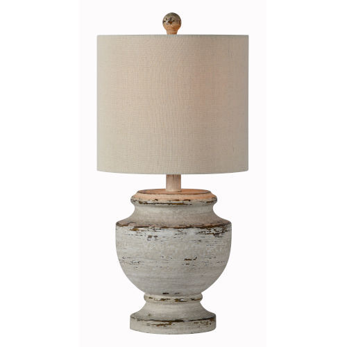 Hazel Cottage White 21-Inch One-Light Table Lamp