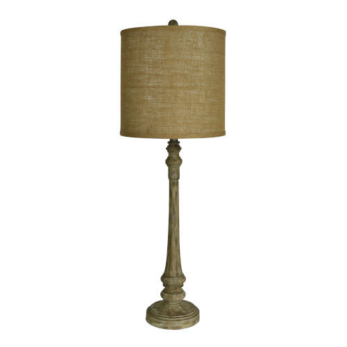 Hazel Wood Grain One-Light Buffet Lamp