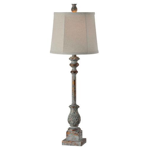 Hazel Blue and Gold 32-Inch One-Light Buffet Lamp