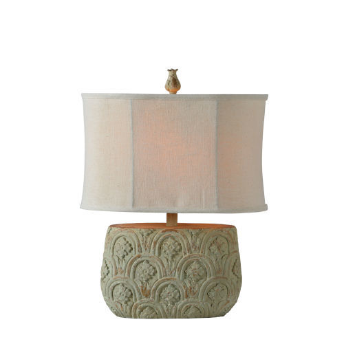 Charlotte Distressed Blue and Green One-Light Table Lamp
