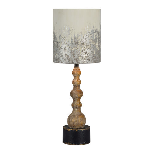 Charlotte Washed Wood and Black One-Light Table Lamp