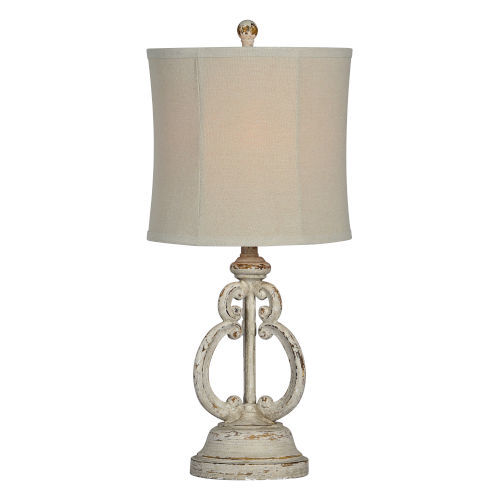 Charlotte Antique Gray One-Light Table Lamp
