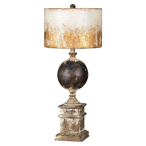 Partridge Black and Antique White One-Light Table Lamp