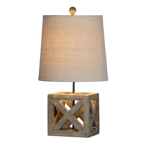 Jackson Worn Wood One-Light Table Lamp