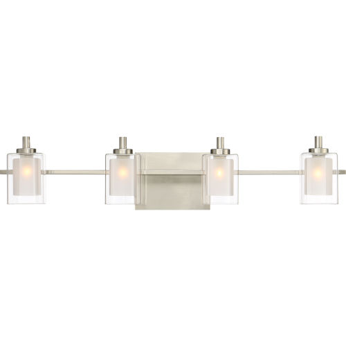 Selby Brushed Nickel Four-Light LED Bath Vanity
