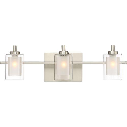 Selby Brushed Nickel Three-Light LED Bath Vanity