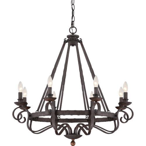 Wellington Black Eight-Light Chandelier