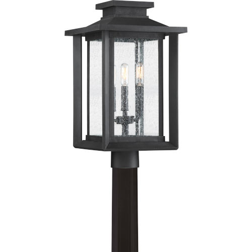 Bryant Black Three-Light Outdoor Post Mount