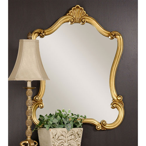 Vivian Gold Framed Wall Mirror