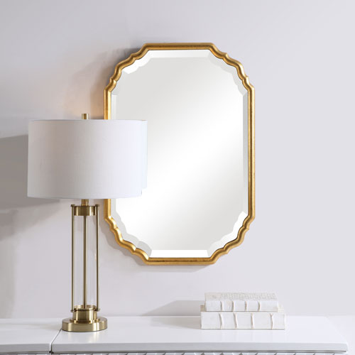 Cooper Gold Framed Wall Mirror