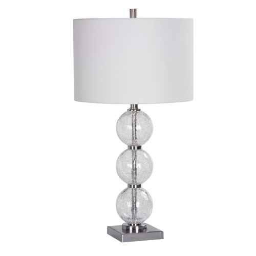 Vivian Brushed Nickel 29-Inch One-Light Table Lamp