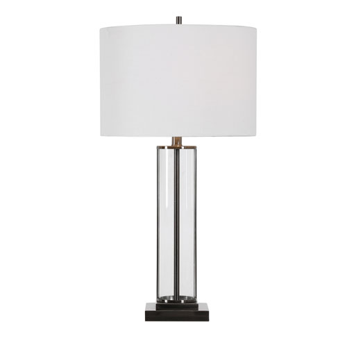 Uptown Nickel 29-Inch One-Light Table Lamp