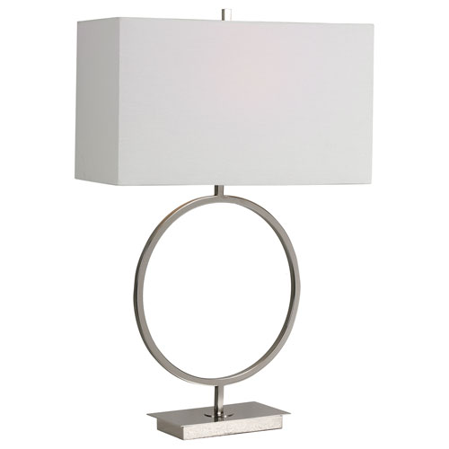 Loring Polished Nickel 29-Inch One-Light Table Lamp