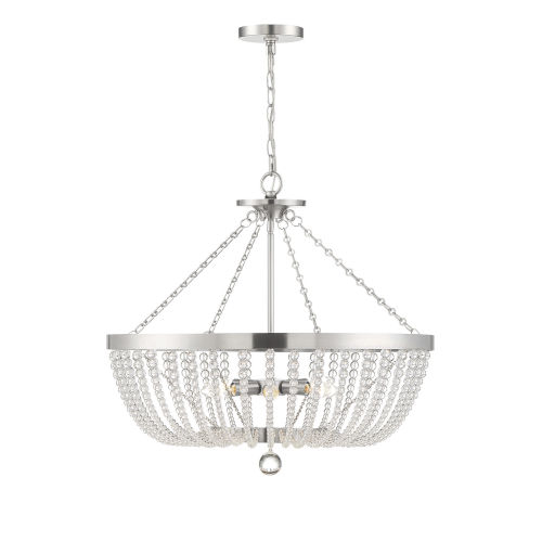 Monroe Antique Nickel Six-Light Pendant