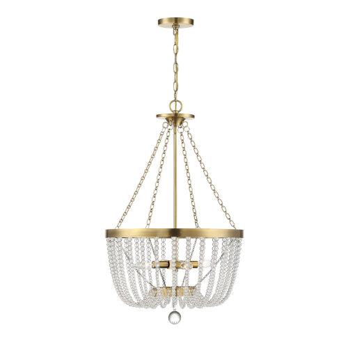 Monroe Warm Brass Four-Light Pendant
